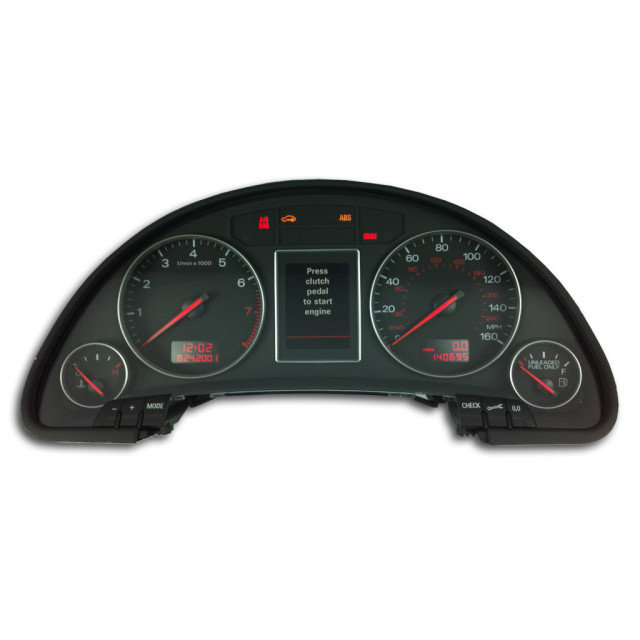 Audi 2002 – 2004 ICP Instrument Cluster Repair – Odometer Mileage LCD Pixel Screen Dead
