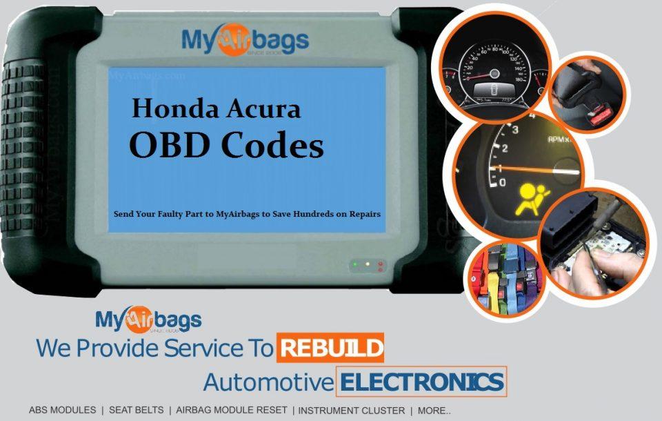 Honda/Acura DTC Code Definitions - MyAirbags - Airbag Reset & Seat