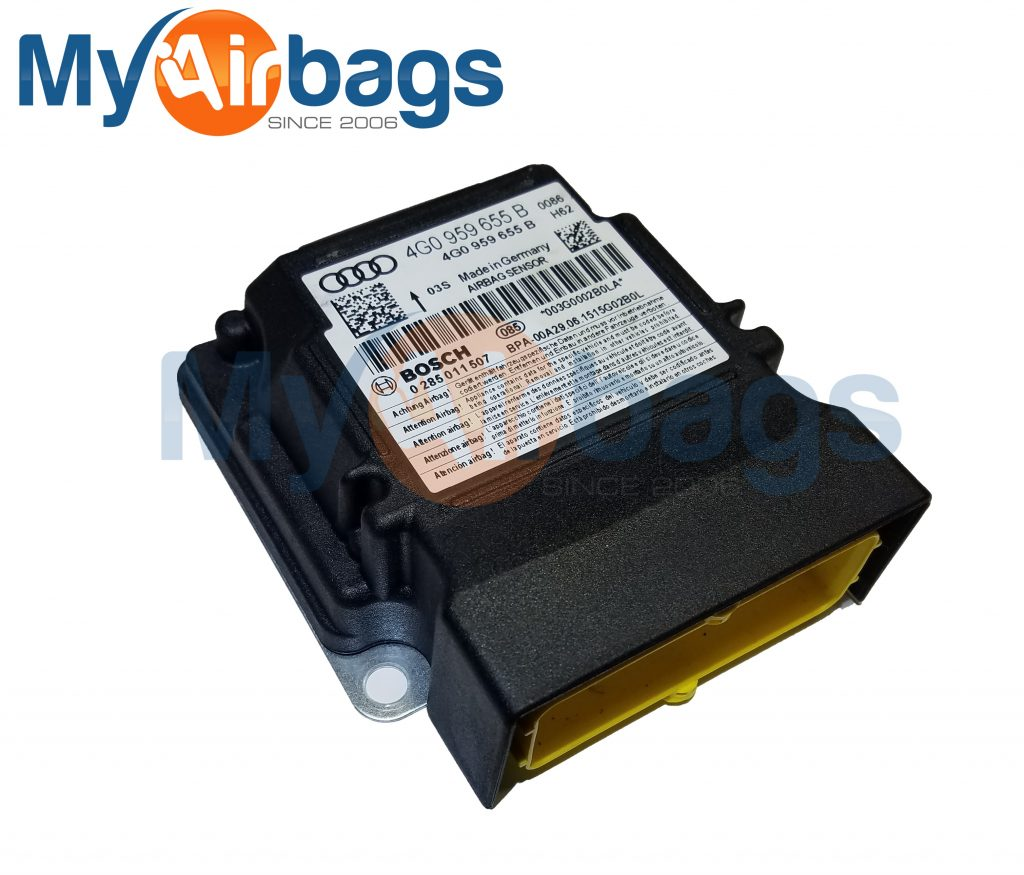 AUDI A6 SRS Airbag Control Module Sensor Part #4G0959655B
