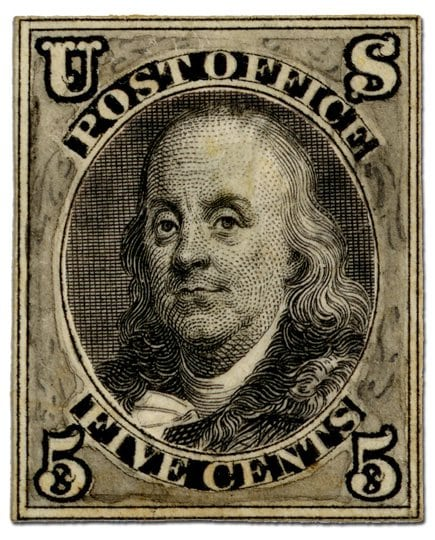 First Postage Stamp Benjamin Franklin | MyAirbags