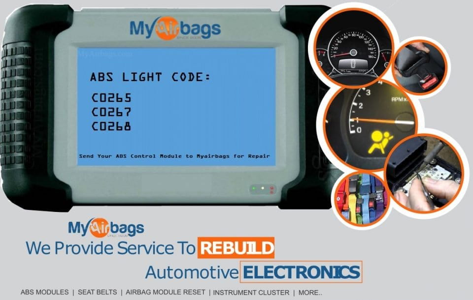 DTC Code: C0265 - ABS EBCM Light On - MyAirbags - Airbag Reset