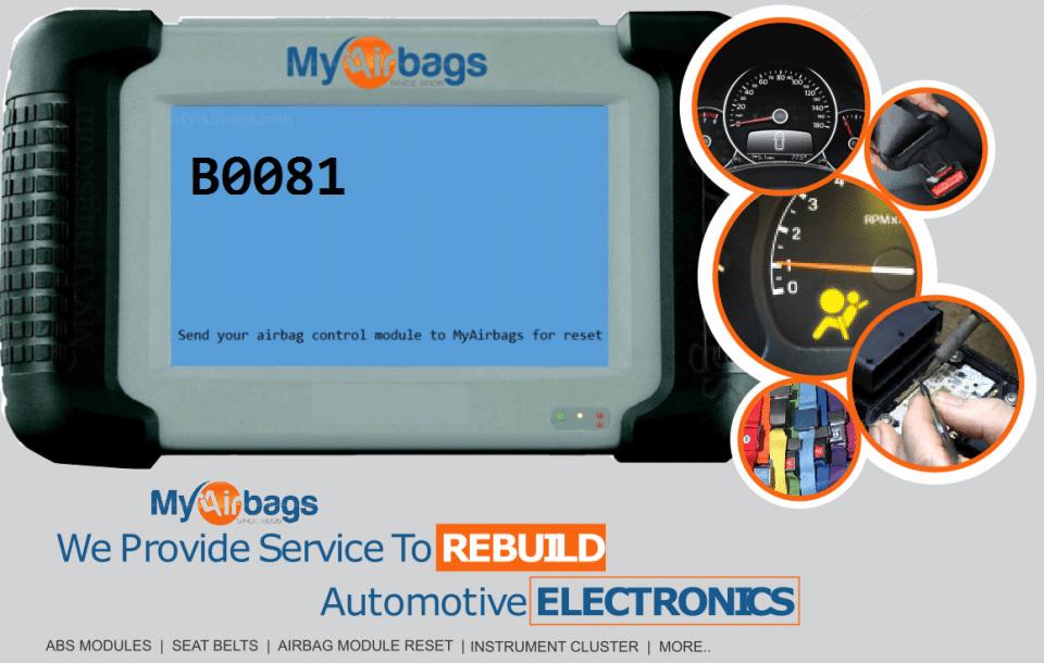 GM Vehicle Airbag Code B0081 - MyAirbags - Airbag Reset & Seat Belt