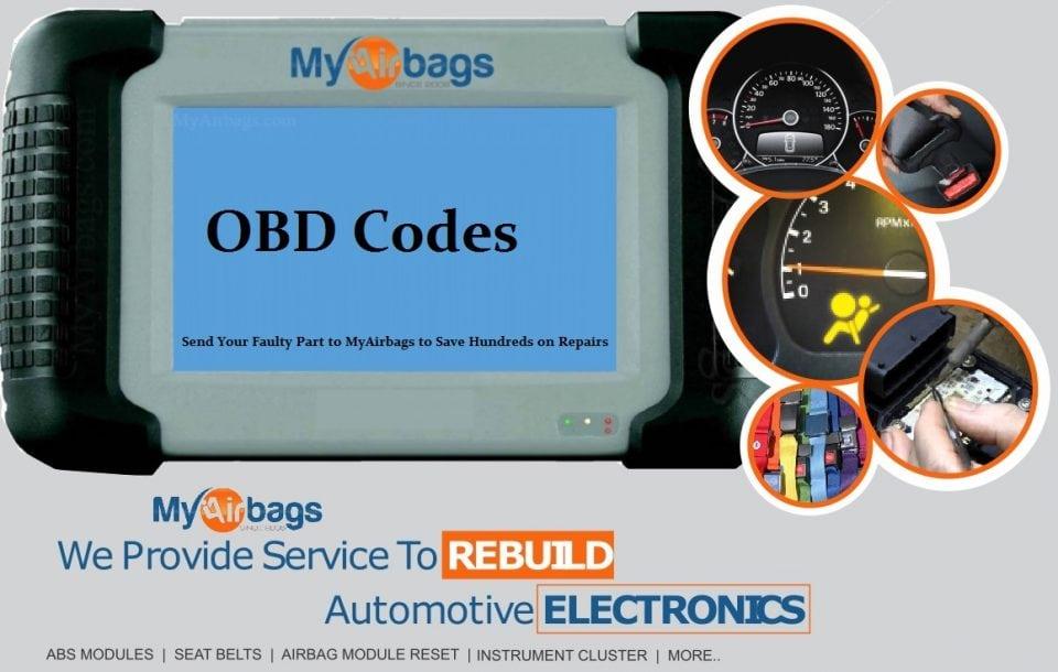 OBD Codes - MyAirbags - Airbag Reset & Seat Belt