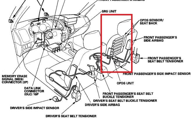 honda  acura airbag code 8-1 and  or 8-5